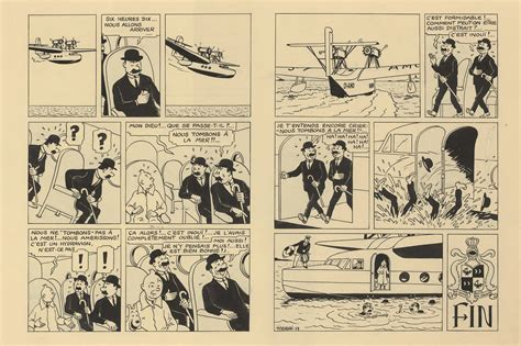 King Ottokar S Sceptre 1 two pages of tintin artwork sell for a whopping 1 2 m