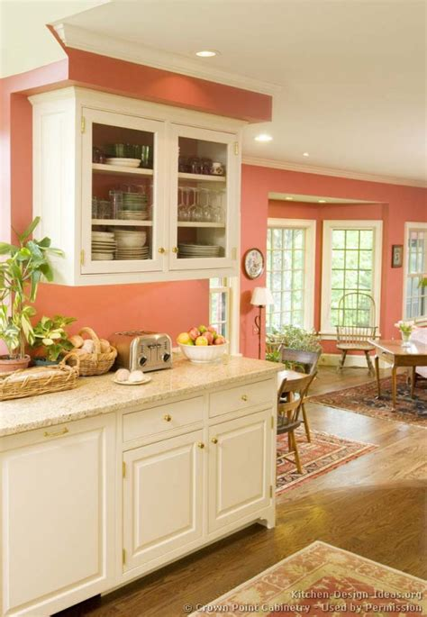 peach kitchen ideas traditional white kitchen cabinets 10 crown point com