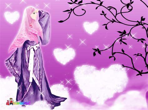 anime bercadar allah maha tahu kartun muslimah cantik dengan berjilbab