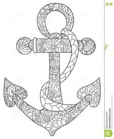 sea anchor coloring vector adults stock vector image 80096825