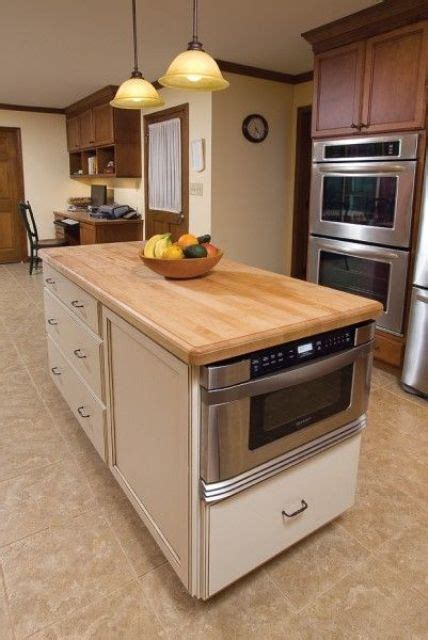 Modern Kitchen Tiles Ideas kitchen island with a built in microwave