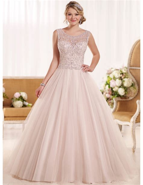 blush colored plus size dresses blush plus size wedding dress gown and dress gallery