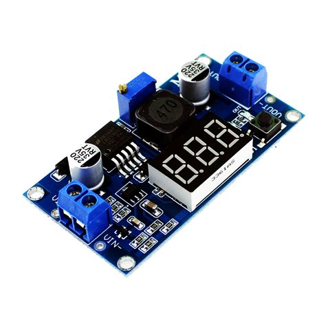 Lm2596 Adjustable Step Power Module Led Voltmeter 1 free shipping lm2596 lm2596s power module led voltmeter dc dc adjustable step power