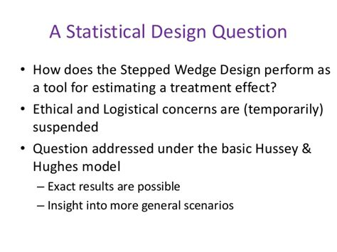 design effect cluster randomised trials the stepped wedge cluster randomised trial workshop session 4
