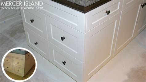 enamel kitchen cabinets painted kitchen cabinets wood to off white enamel