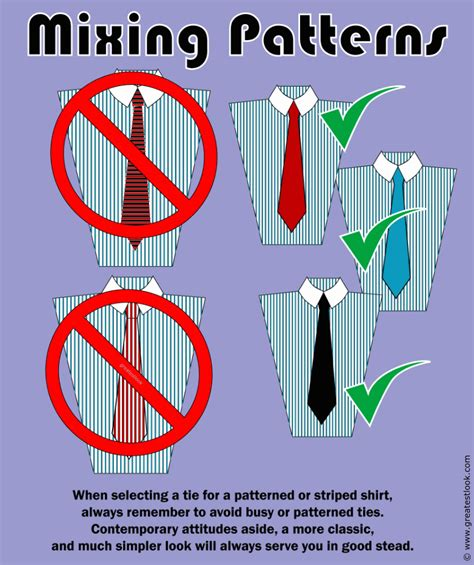 pattern shirt with striped tie how to combine the right tie color with a shirt