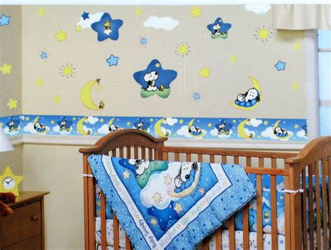 peanuts baby room baby nursery decor jumbo wallpaper stickers snoopy baby nursery removable decorations lambs and