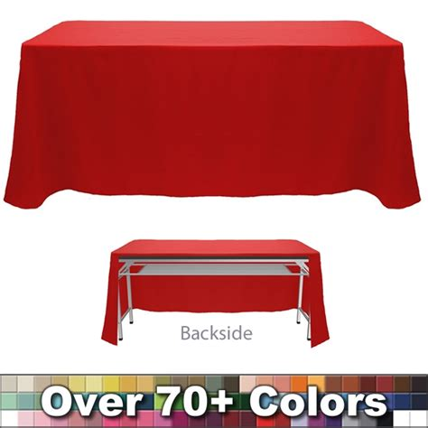 non printed 8 ft throw style tablecloth open back