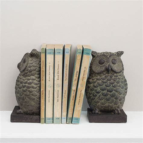 owl bookends owl bookends by the contemporary home notonthehighstreet
