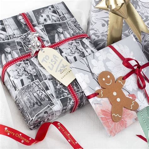personalised wrapping paper uk print your christmas photo