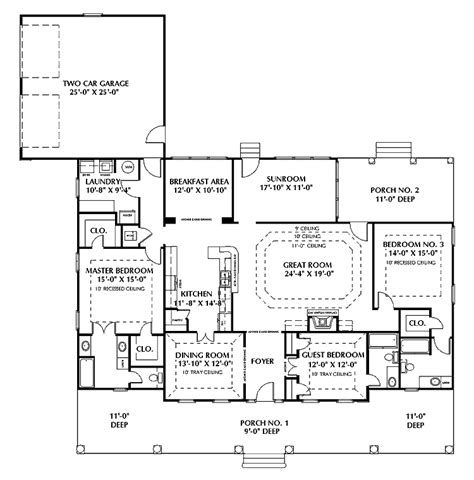 one story floor plans with two master suites single story house plans with two master suites house