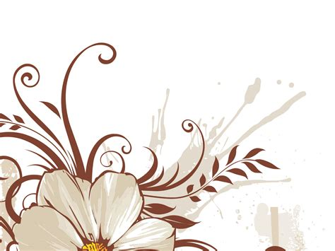 Modern Floral Wallpaper ivy on brown powerpoint templates brown flowers free