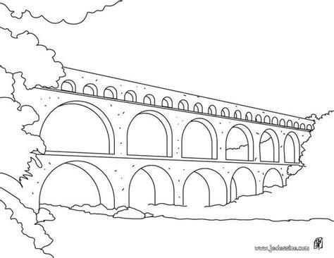 Coloriages Le Pont Du Gard Fr Hellokids Com