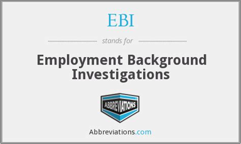 Ebi Background Check Background Investigation
