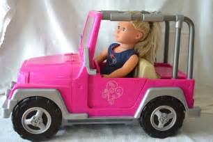 Our Generation Jeep And Cer American 4x4 Pink Jeep Car Convertible Our