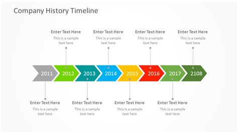 free history timeline template free company history powerpoint timeline