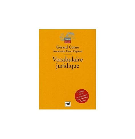 vocabulaire juridique vocabulaire juridique association henri capitant broch 233 achats ventes