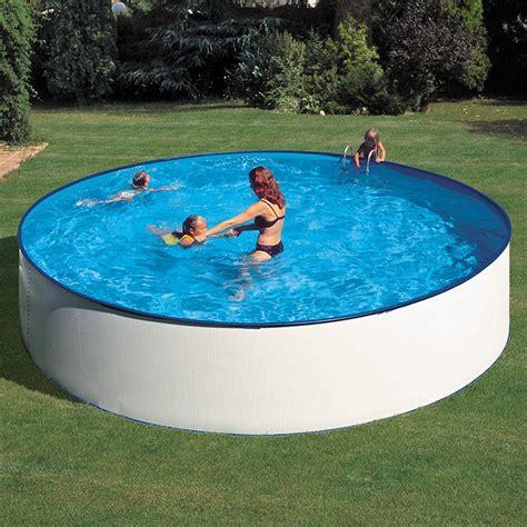 piscina in piscina desmontable gre lanzarote circular acero chapa