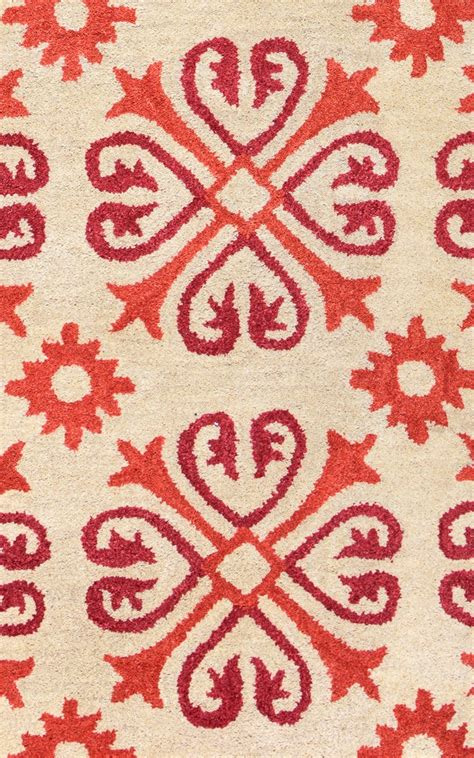 circle pattern area rugs opus circle studded pattern wool runner rug in khaki orange pink 2 6 quot x 8