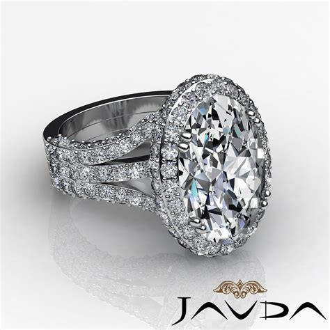 3 15ct oval vintage engagement halo unique ring h