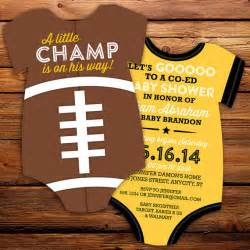 items similar to football jersey baby shower invitations all invitation bodysuit die