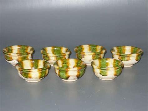 Sancai Set tang dynasty funerary sancai tea cup set for sale
