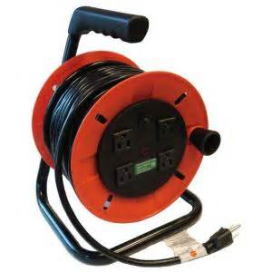 Home Depot Christmas Lawn Decorations gentran 50 ft 14 3 handy extension cord reel with