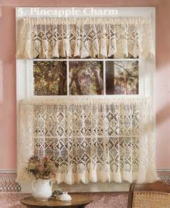 Crochet Cafe Curtains Table Toppers Cafe Curtains Crochet Patterns Booklet Home Decor