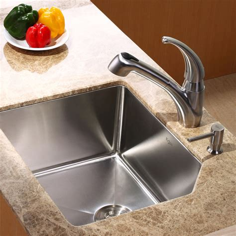 Undermount Sink Faucet by Kraus Khu121 23 Kpf2110 Sd20 23 Inch Undermount Sink And
