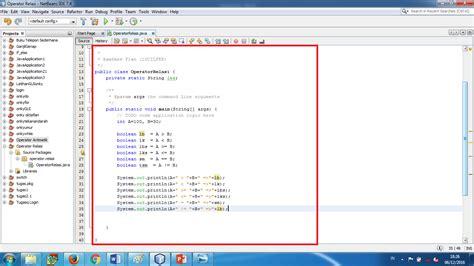 tutorial membuat index html tutorial membuat program dengan operator relasi pada netbeans