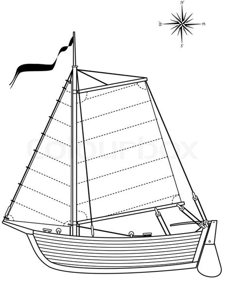 paper boat clipart black and white segeln vintage boot beiboot isolierte darstellung