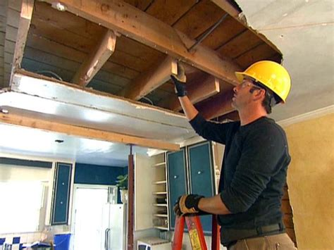 Ceiling Load by Load Bearing Beam Installation Diy