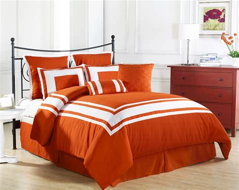 Orange Bed Sets Comforters Image Gallery Orange Comforter