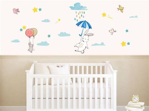ucan tavsanlar bebek odasi duvar sticker stickerimcom