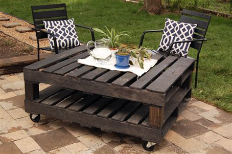 Diy Patio Coffee Table Outdoor Furniture From Pallets Home Design And Decor Reviews