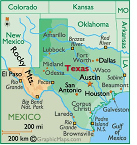 texas city map, county, cities and state pictures