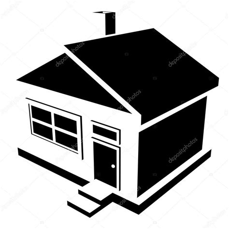 silhouette house house silhouette stock vector 169 greyj 34987805
