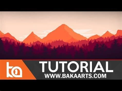tutorial illustrator for beginners flat landscape photoshop tutorial for beginners youtube
