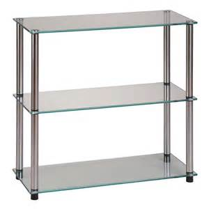 convenience concepts classic glass 3 shelf bookcase by oj