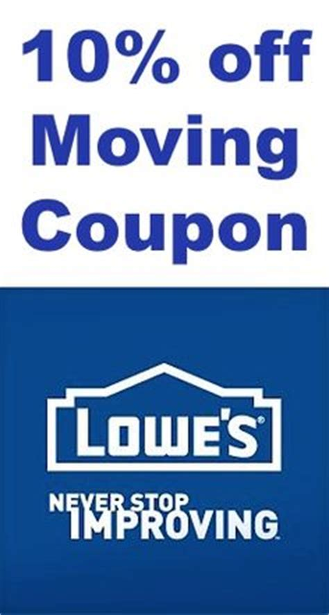 10 moving coupon from lowes
