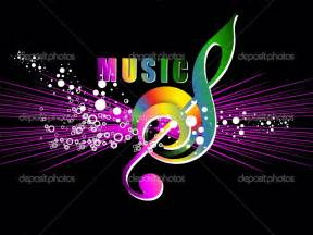 colorful music notes symbols wallpaper