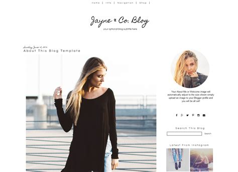 simple blogger template black white blogger template