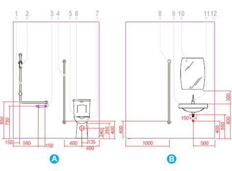 progetto bagno disabili configurazione tipo di istallazione di bagni disabili
