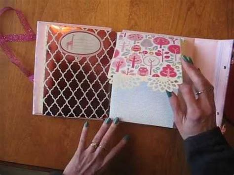 mini scrapbook tutorial youtube baby girl scrapbook mini album with stitched beaded