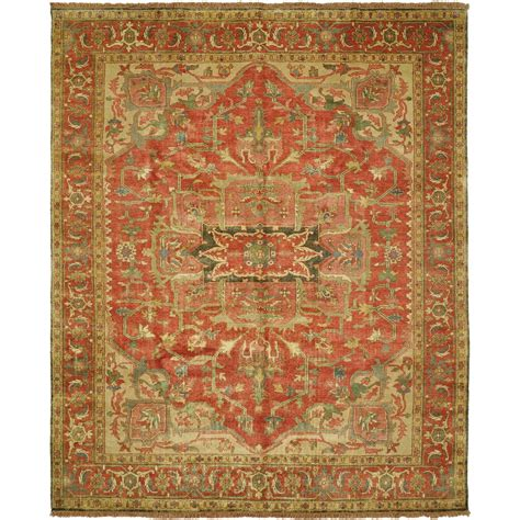 India Wool Rugs by Size 4 0 Quot X6 0 Quot Serapi Collection Knotted Wool Rug