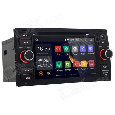 android radio android 4 4 dual din car radio dvd player for ford focus mondeo kuga c max transit