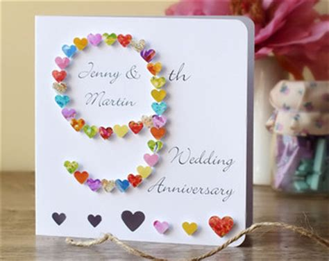 Wedding Anniversary Gifts Ninth Year by 9th Anniversary Etsy