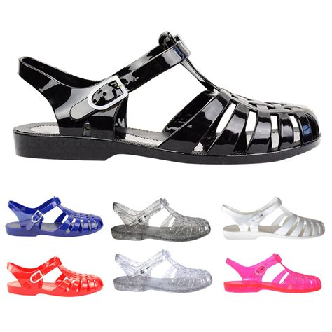 jelly sandals 90s flat rubber retro 90s jelly buckle sandals flip