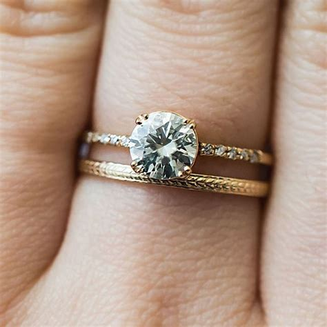 Wedding Bands To Pair With Solitaire by Best 25 Unique Wedding Bands Ideas On