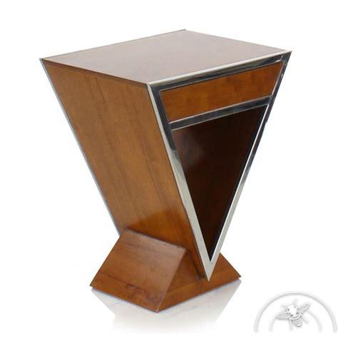 table de en bois table de chevet design bois clair delta saulaie